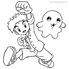 digimon color coloring pages kids cartoon characters