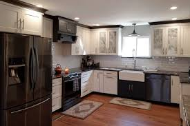 kitchen design white cabinets black appliances how to select appliances to match your kitchen cabinets