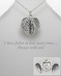 custom locket necklace buy sterling silver locket wing necklace winged heart locket
