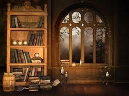 Bookcase Backdrop Halloween Backdrops Holidays