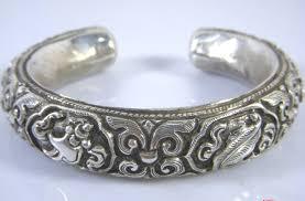 sterling bracelet images Handmade tibetan babao symbol bracelet sterling silver bracelet jpg