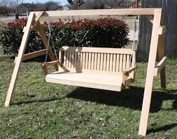 Porch Swing With Stand Personalized Short A Frame With Swing