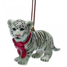 northern white tiger ornament r307