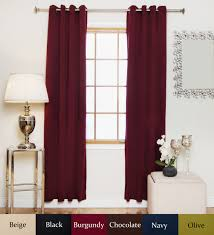 Purple Thermal Blackout Curtains by Burgundy Aantique Brass Grommet Top Thermal Insulated Blackout