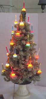43 best vintage table top lighted trees images on
