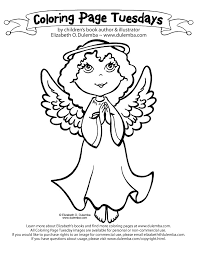 dulemba coloring page tuesday angel