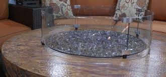 Oriflamme Sahara Fire Table by Fire Pit Wind Guard 28 Inch Fire Pit Glass Wind Guard