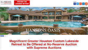 7 acre north houston texas estate for sale with private lake