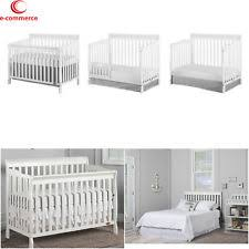 Babies Bedroom Furniture 5 In 1 White Convertible Crib Dream On Me Ashton Baby Bed Ebay