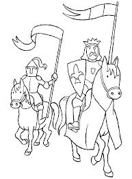 dessin a colorier de chevalier