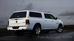 Dodge 1500 Truck Cap - flakkåpa arbets kåpa leer 100xl för f150 ram silverado mfl