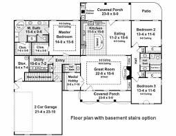 3 Bedroom House Plans With Basement 2000 Sq Ft House Plans With Basement Basements Ideas