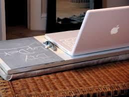 Diy Lap Desk Diy Laptop Desk With A Chalkboard To Take Notes Shelterness