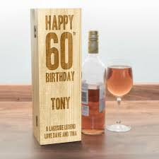 birthday drink wine 60th birthday personalised wooden wine box