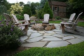 Flagstone Patio Installation Cost by Natural Flagstone Patio U0026 Fire Pit Flagstone Patio Outdoor