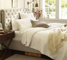 chesterfield upholstered bed headboard from pottery barn au chesterfield upholstered bed headboard from pottery barn au