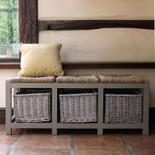 Storage Bench With Baskets Bench Hallway Storage Benches Tetbury Bench White Baskets