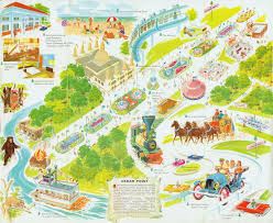 cedar fair parks map cedar point 1961 travel cedar point and amusement