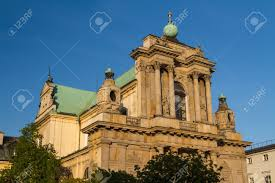 Neoclassical Architecture Warsaw Poland Carmelite Church At Famous Krakowskie