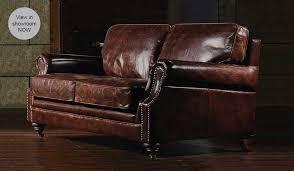 Portland Vintage Leather  Seater Sofa Luxury Delux Deco - Leather sofa portland 2