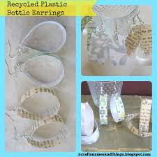 plastic bottle earrings diy recycled bottle earrings how to make recycled plastic bottle