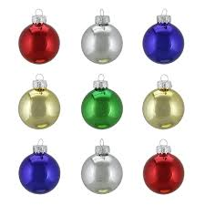 6ct transparent clear glass ornaments 2 5 65mm