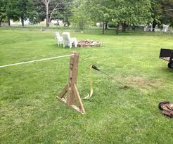 slackline without trees how to build an a frame yards