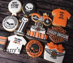 harley davidson cookies by dany u0027s cakes decorated cookies