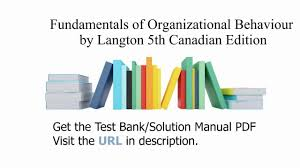 practice test bank for fundamentals of organizational behaviour by