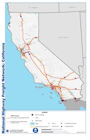 Map Of San Diego Airport by National Highway Freight Network Map And Tables For California