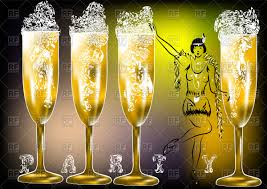 champagne silhouette champagne party silhouette of woman in twenties style and