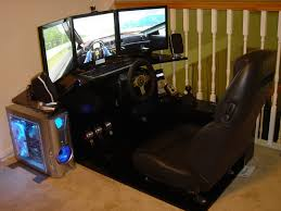 Gaming Computer Desk Posh Car Seat Equipped Computer Gaming Desk With Sound System