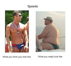 Speedo Meme - image 269221 what you think you look like vs what you actually