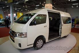 toyota hiace 2015 launch of the toyota hiace put on hold in india report