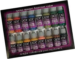 vallejo extra opaque game color set vj72290