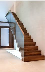 Glass Stairs Design Walnut And Glass Stairs Glass Stairs Decor And Ideas