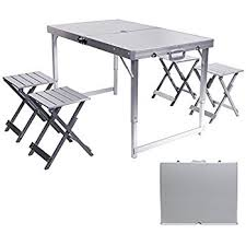 amazon com rokoo aluminum folding camping table portable outdoor