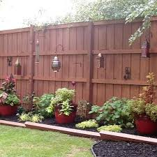 Backyard Fence Decorating Ideas Outside Fence Decorations Beautiful Exquisite Backyard Fence