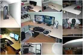 Computer Built Into Desk Desk Extraordinary Custom Computer Desk Ideas Coolest Interior