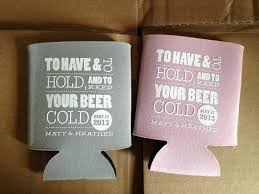 wedding personalized koozies personalized koozies for wedding favors like this item
