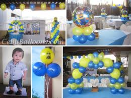 minions centerpieces minions despicable me balloon decors at apple tree suites cebu