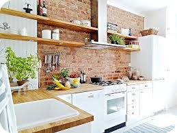 Interior Kitchens Best 25 Brick Wall Kitchen Ideas On Pinterest Exposed Brick