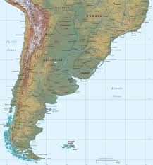 Maps South America by South Of South America