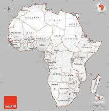 gray simple map of africa cropped outside
