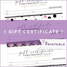 printable romantic gift certificates pure romance gift certificate template business plan template