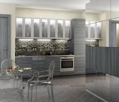 cuisine moderne blanche et cuisine bois gris moderne armoires aspect chaises c3a9lc3a9gantes