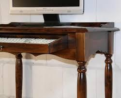Schreibtisch Holz Klein Schreibtisch Pc Tisch Kolonial Braun Nußbaum Holz Massiv Bei Casa