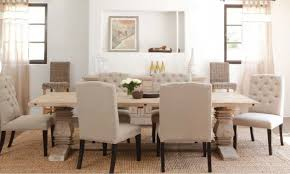 Fabric Chairs Design Ideas Dining Room 7 Pieces Dinette In White Theme Using Tufted White
