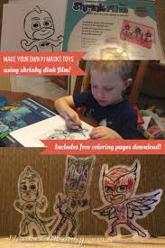 pj masks toys shrinky dinks bonus coloring pages