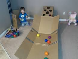 love this homemade skee ball game for kids it goes great with